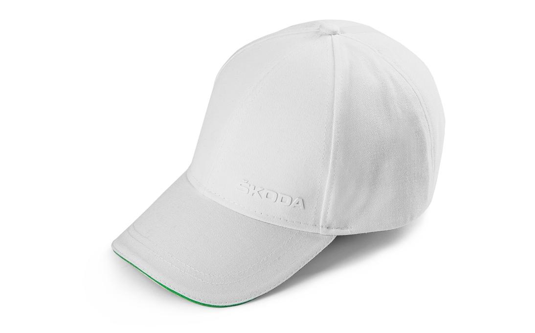 Белая кепка SKODA unisex
