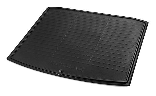 Коврик в багажник двусторонний KODIAQ для а.м. с запасным колесом
